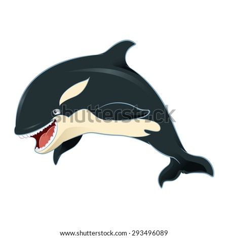 Image of an cartoon killer whale