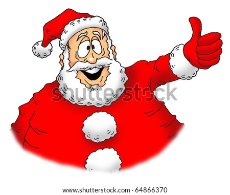 image of an excited Santa giving a big thumbs up