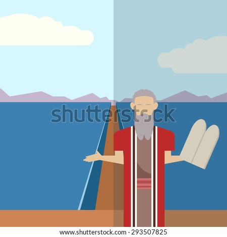 Image of an icon of Moses - stock photo