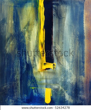 Image of an Interesting Abstract painting On Canvas