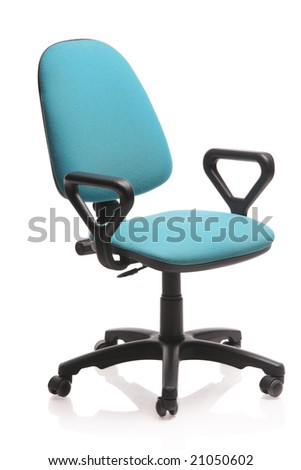 Image of an office chair isolated against white background - stock photo