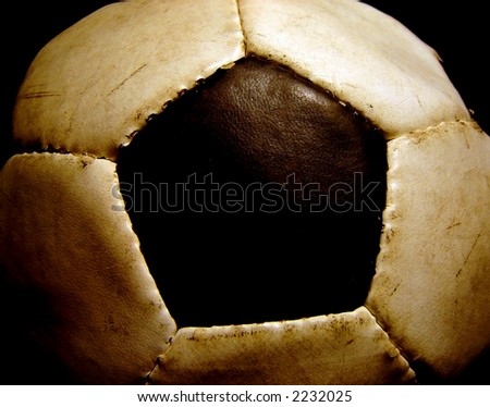 image of an old used football - stock photo