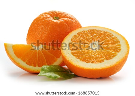 Image of an orange studio isolated on white background - stock photo