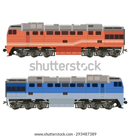 Image of an real-looking shiny Locomotive - stock photo