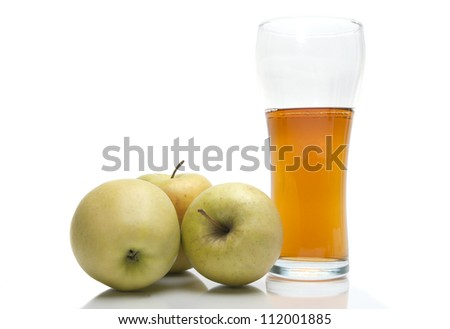 Image of apples with glass of juice