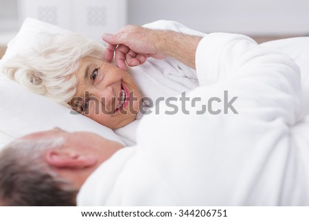 Image of attractive mature woman in love