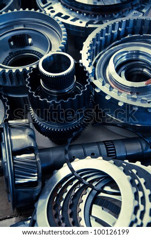 image of automobile gear assembly - stock photo