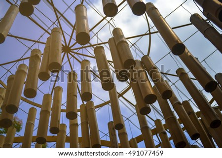 Image of bamboo roof.