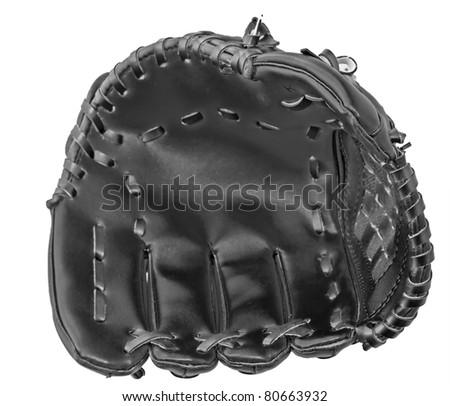 Image of baseball glove, black and white - stock photo