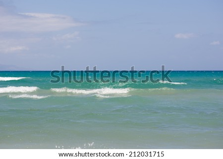 image of beautiful tropical sea