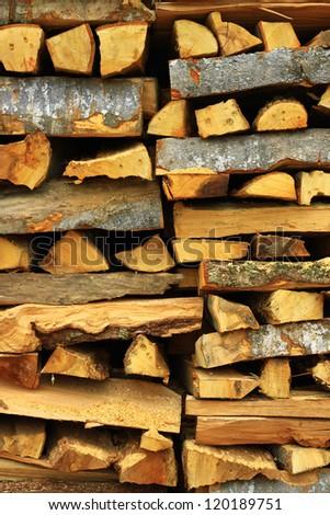 Image of big wood stack - stock photo