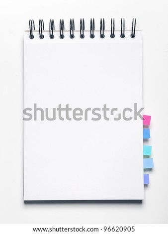 Image of blank notebook with bookmarks - stock photo