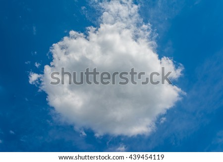 image of blue sky with meteor shape white clouds on day time for background. - stock photo