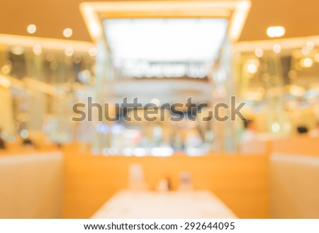 image of blur people at japanese restaurant . - stock photo