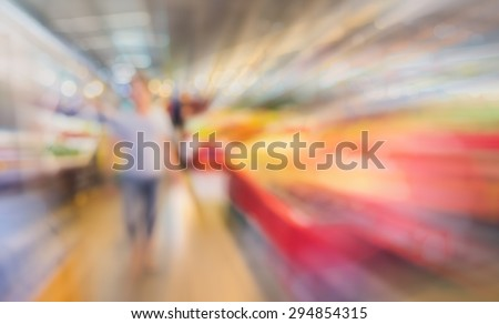 image of blur thailand market with bokeh for background usage . - stock photo