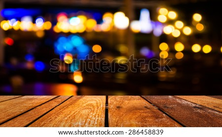 image of  blurred bokeh background with warm orange lights (blurred) - stock photo