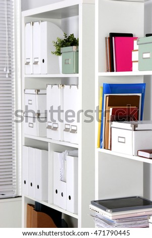 Image of board with documents in office
