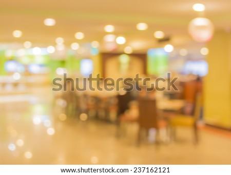 image of Bokeh at  large restaurant . - stock photo