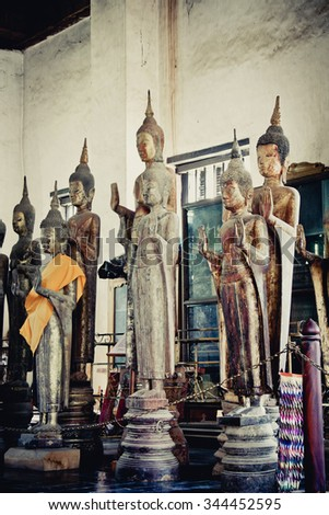 Image of Buddha in Luang Prabang, Laos. - stock photo