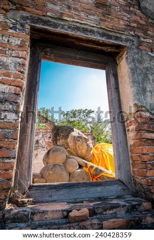 image of buddha in thailand - stock photo