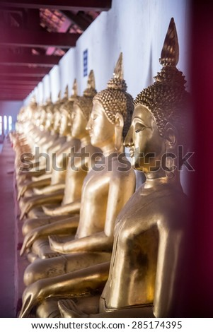 Image of Buddha in Wat Phra Si Rattana Mahathat temple ,Phitsanulok Province, Thailand.