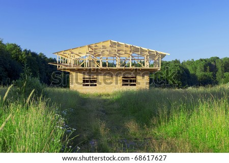 Image of building a new home - stock photo