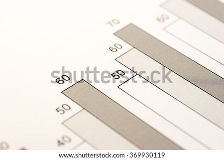 Image of business, bar charts with number - stock photo