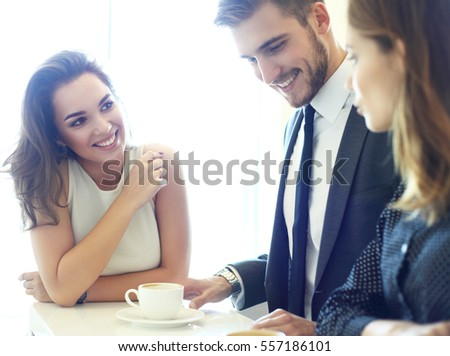 Image of Business meeting in a cafe