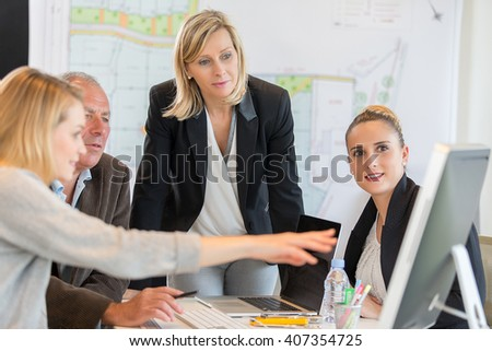 Image of business people in a conference room - stock photo