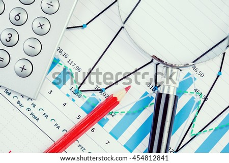Image of businessman workplace with papers