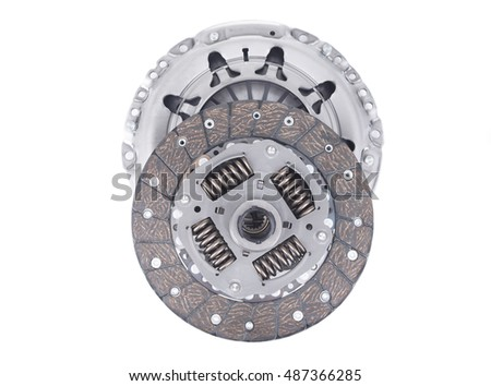 Image of Car clutch kit isolated on white
