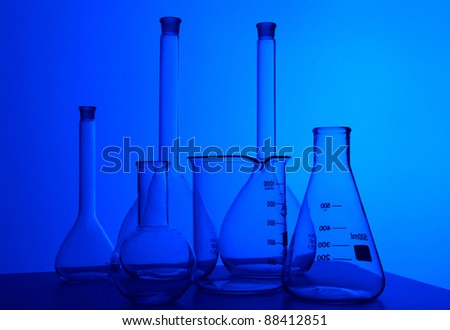 Image of chemistry laboratory equipment and glass tubes