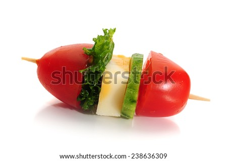 Image of cherry tomato with lettuce and cheese - stock photo