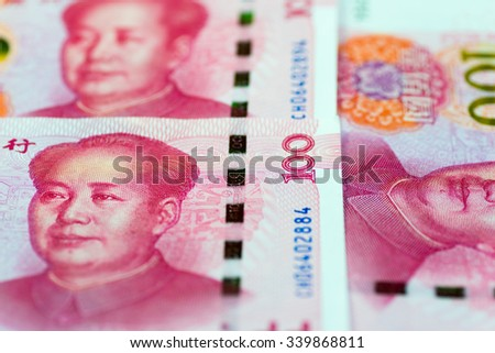 Image of Chinese financial market, with renminbi