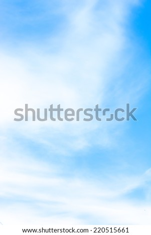 image of clear sky and white clouds on day time. - stock photo
