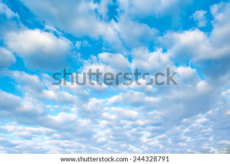 image of clear sky on day time . - stock photo