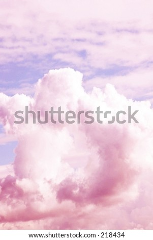 image of clouds and sky from airplane - stock photo
