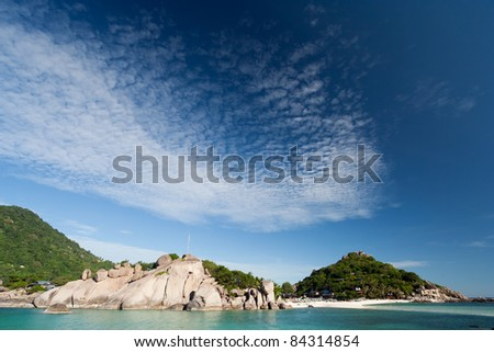 Image of  cloudscape ad the sea as they  move towards  the shore. - stock photo