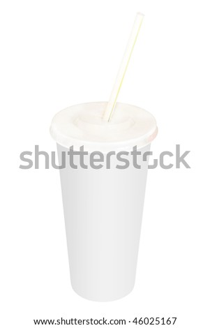 Image of cocktail under the white background