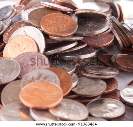 Image of coins. - stock photo