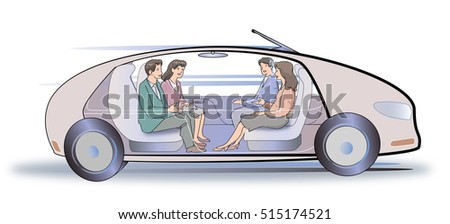 Image of completely automatic driving car
