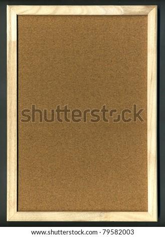 Image of cork board on black background - stock photo