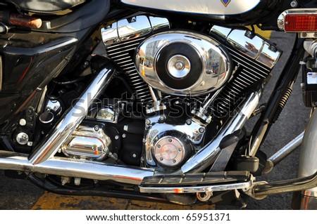 Image of custom motorbike mechanical detail. - stock photo
