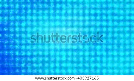 Image of defocused stadium lights.  Abstract blue background. - stock photo