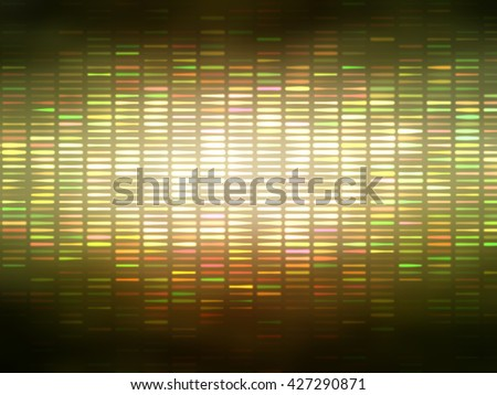 Image of defocused stadium lights.  Abstract gold background.