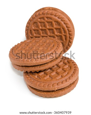 image of delicious cookies close-up