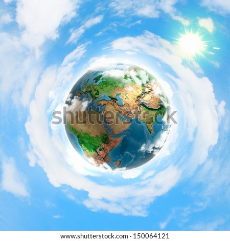Image of earth planet. Elements of this image are furnished by NASA - stock photo