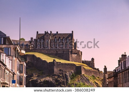 Image of Edinburgh Castle, Scotland.  - stock photo