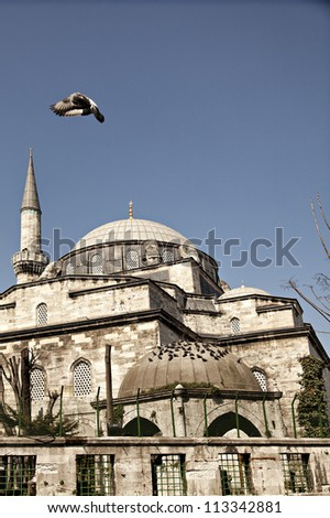 Image of Eminonu Yeni mosque (New Mosque) in Istanbul, Turkey