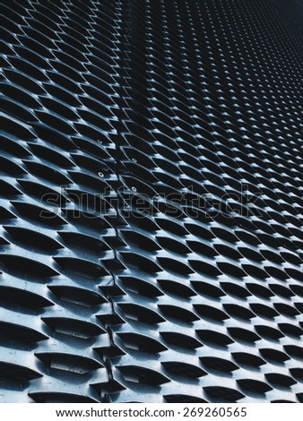 image of expanded metal for Decoration, architecture and building - stock photo